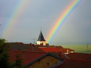 Arc en Ciel au dessus de l'église
